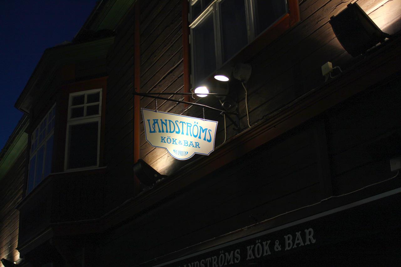Landströms Kök & Bar är en restaurang belägen i centrala Kiruna.